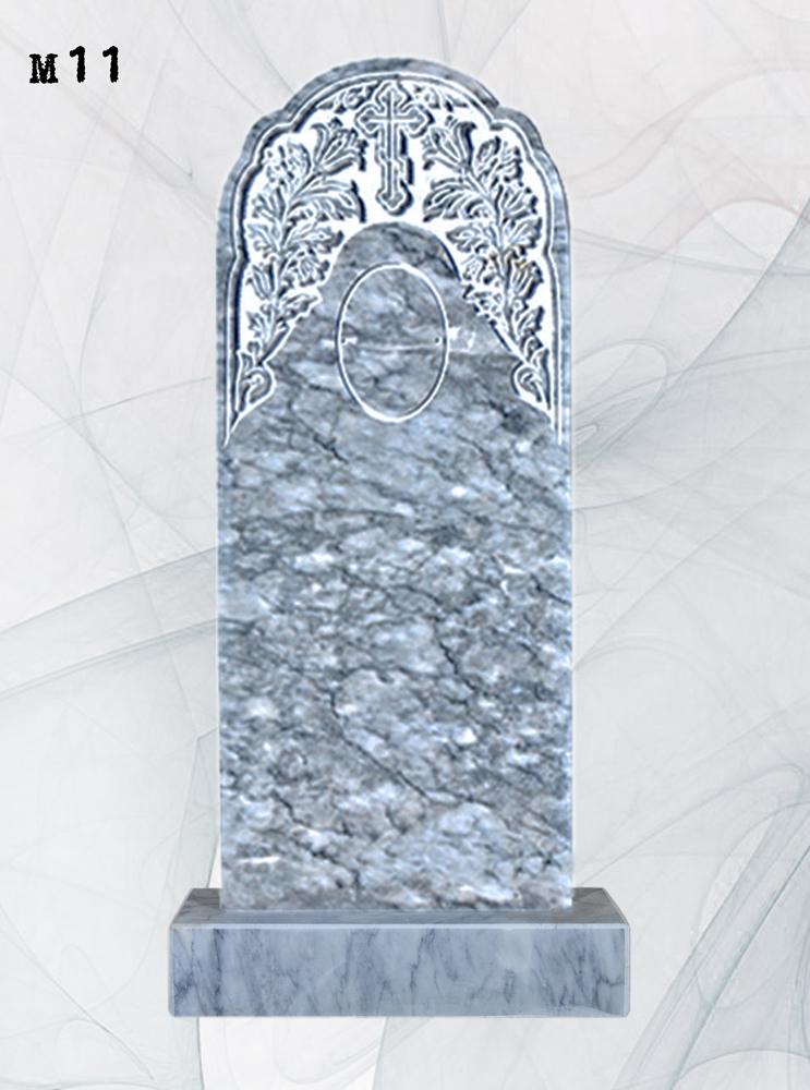Мраморный памятник резной колокольчики
