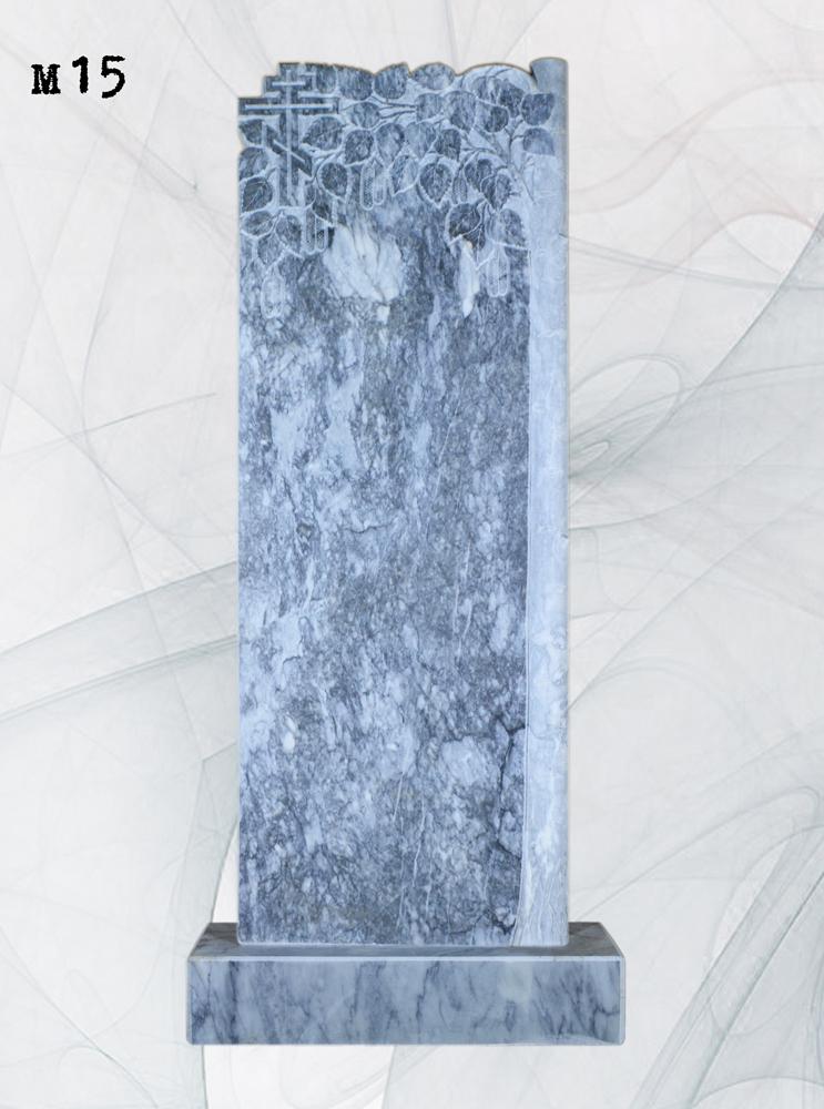 Мраморный памятник резной береза полированный ствол