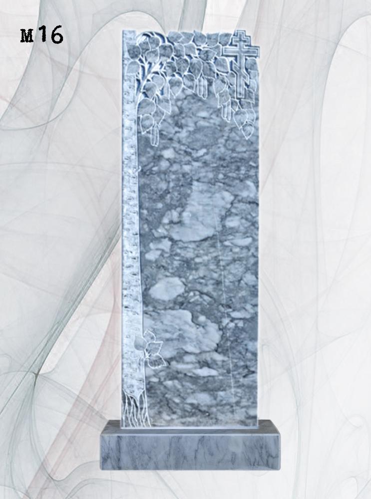 Мраморный памятник резной береза