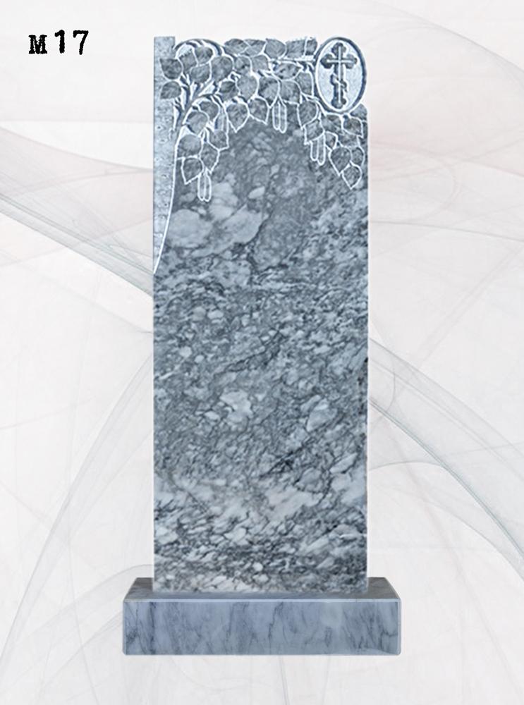 Мраморный памятник резной береза полуствол