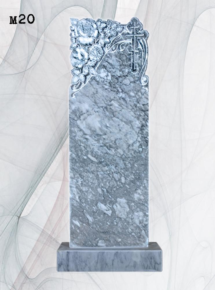 Мраморный памятник резной розы