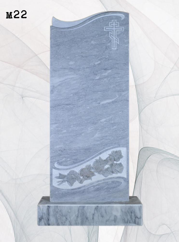 Мраморный памятник резной розы 3D