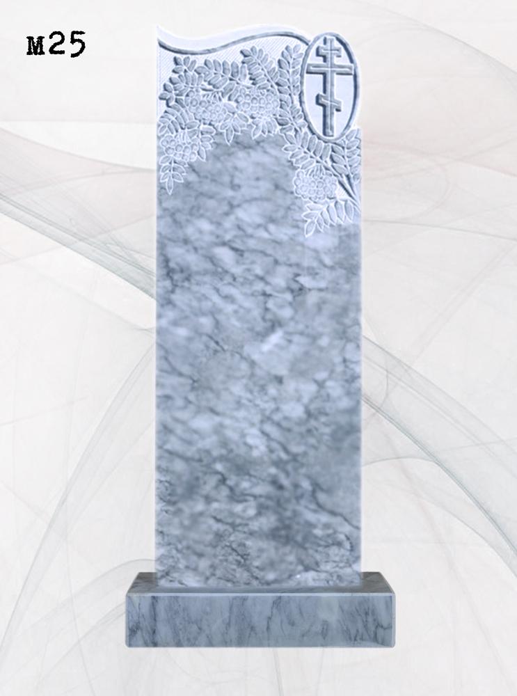 Мраморный памятник резной рябина волна