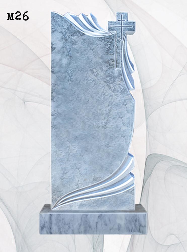 Мраморный памятник резной полотенце 3D