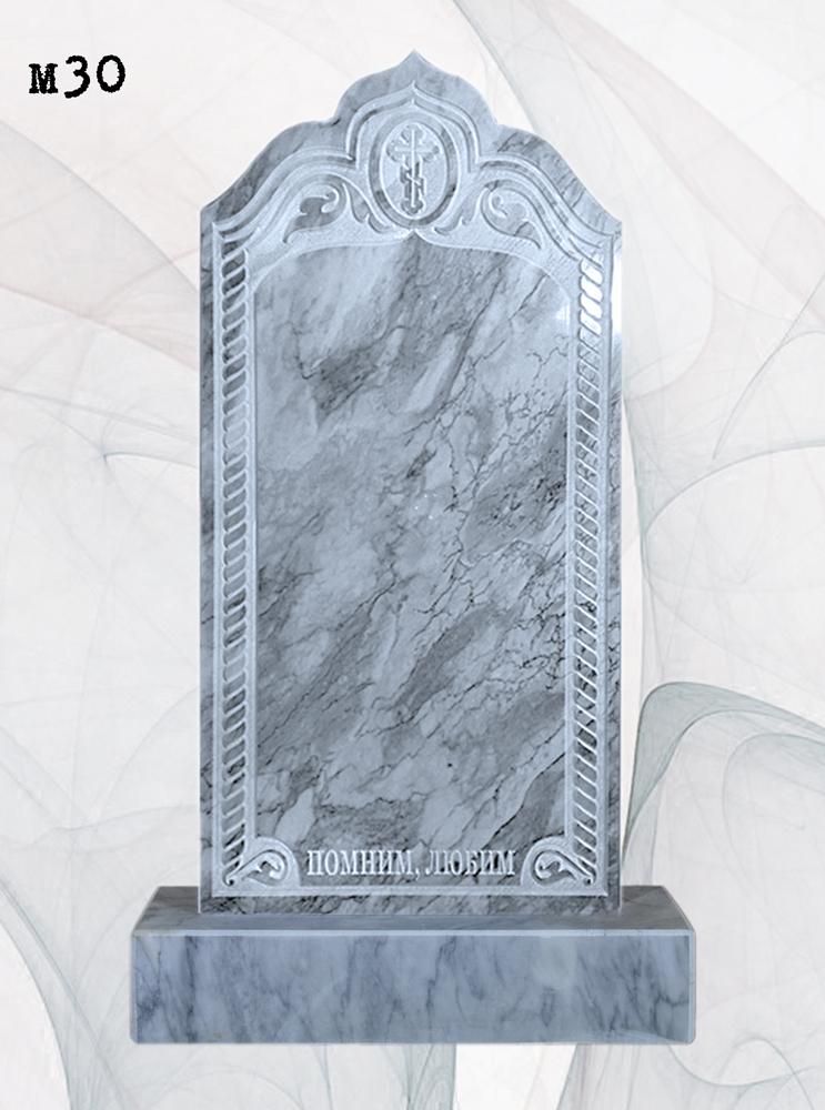 Мраморный памятник резной рамка крест