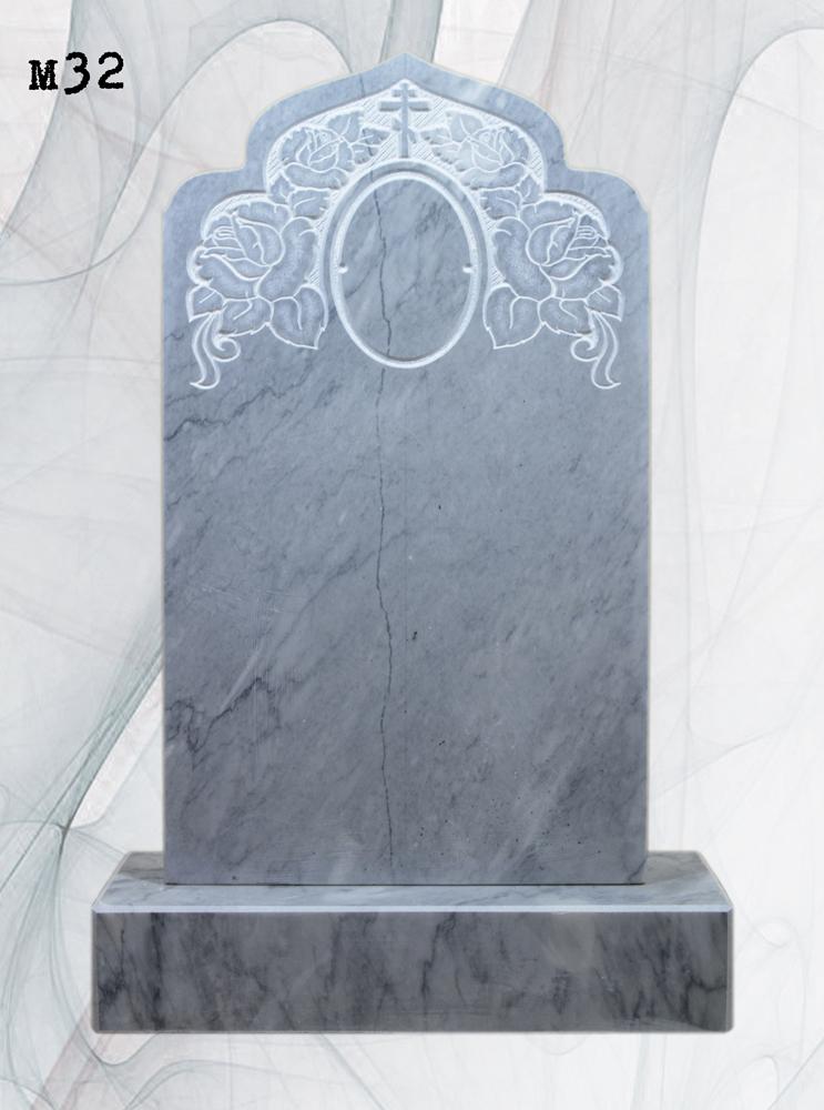 Мраморный памятник резной розы купол