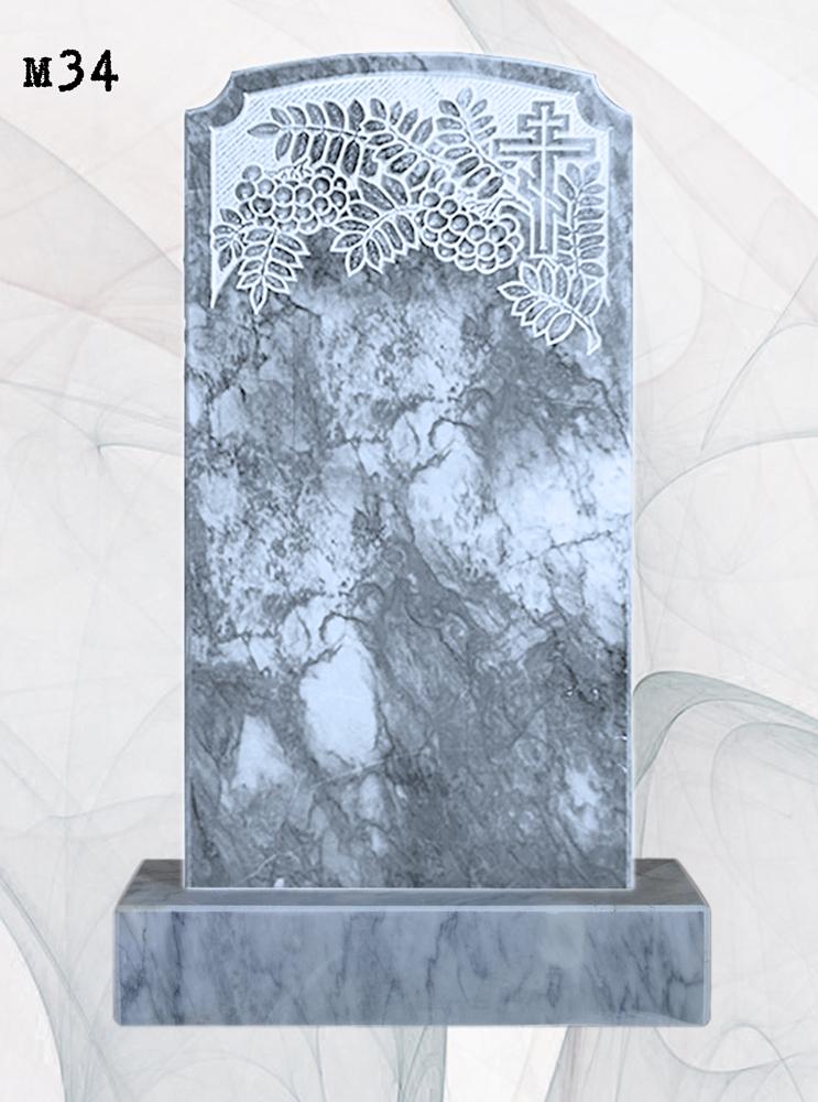 Мраморный памятник резной рябина ушки