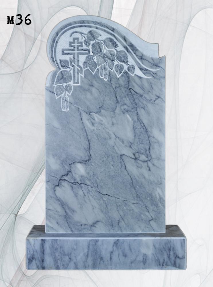 Мраморный памятник резной береза волна