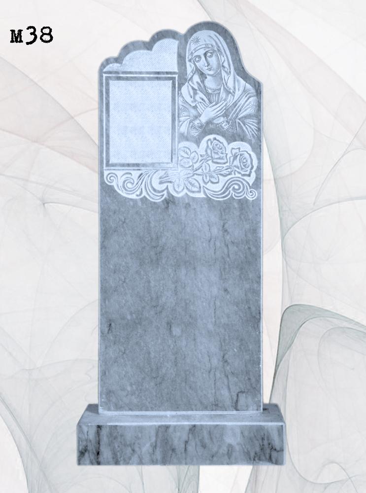 Мраморный памятник резной богородица