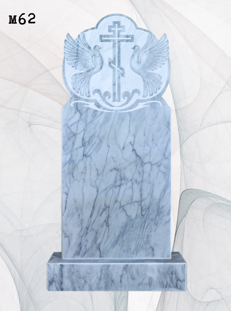 Мраморный памятник резной голуби