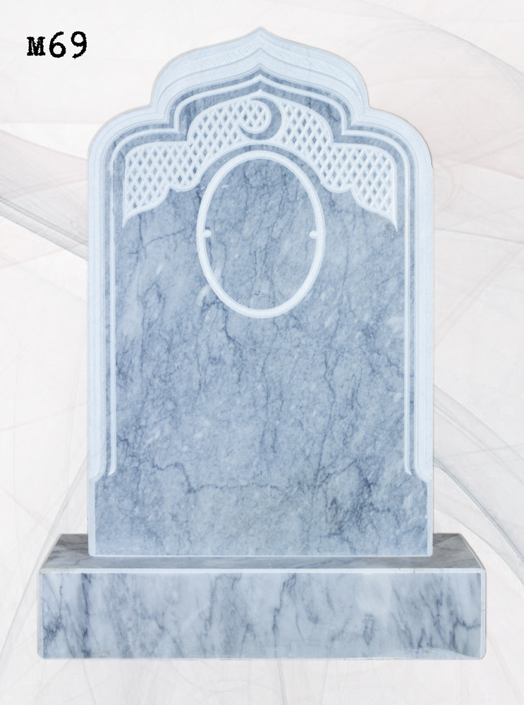 Мраморный памятник резной мусульманский