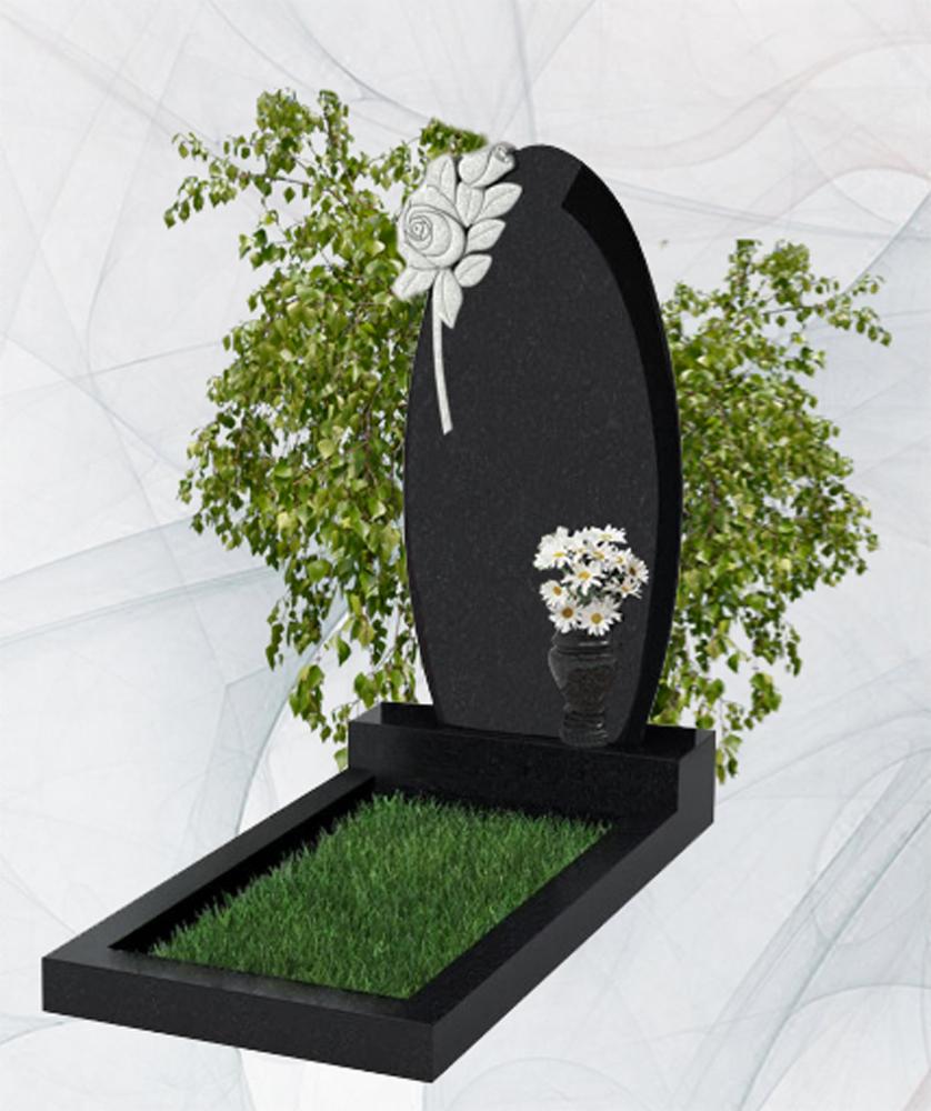 Фигурный гранитный памятник китай и карелия роза