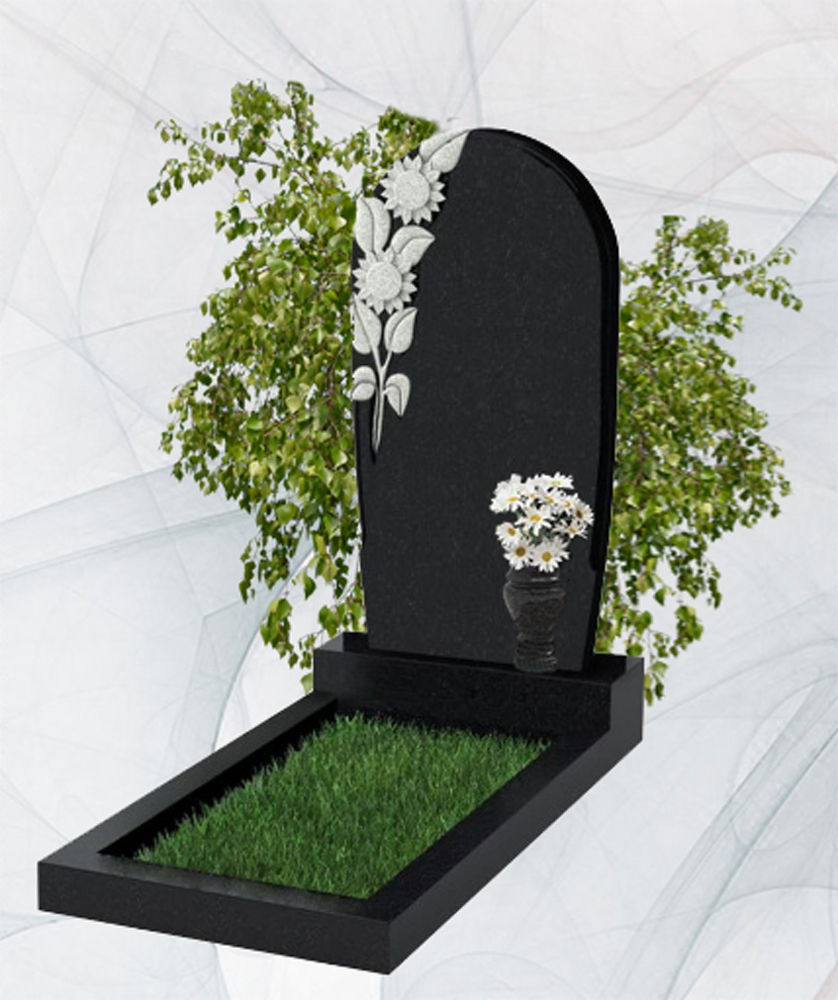 Фигурный гранитный памятник китай и карелия цветы